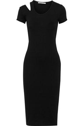 HELMUT LANG Cutout cotton-jersey dress