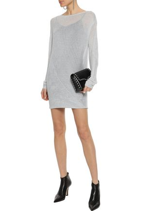 RAG & BONE Flora metallic open-knit mini dress