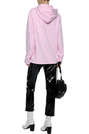 HELMUT LANG + Jeremy Deller French cotton-terry hoodie