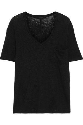 MONROW Linen-jersey T-shirt