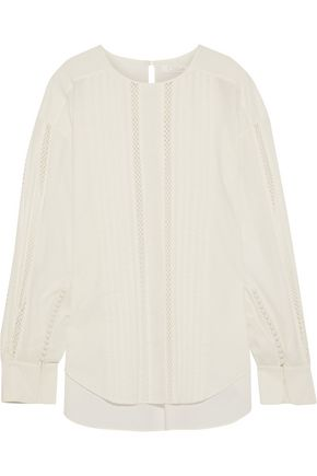 CHLOÉ Lattice-trimmed cotton shirt
