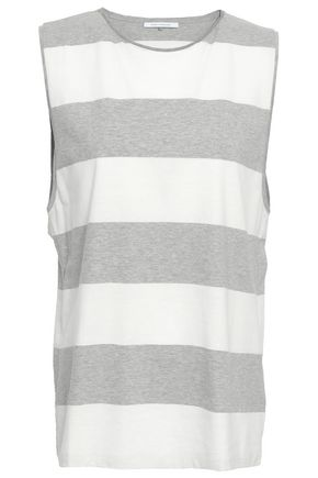 NINETY PERCENT Striped cotton-jersey top