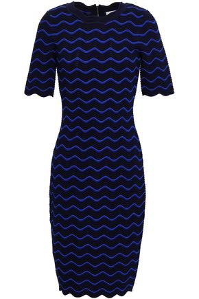 MILLY Ribbed pointelle-knit dress