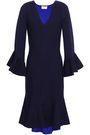 MILLY Fluted stretch-knit dress