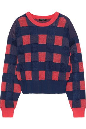 RAG & BONE Ridley gingham terry sweater
