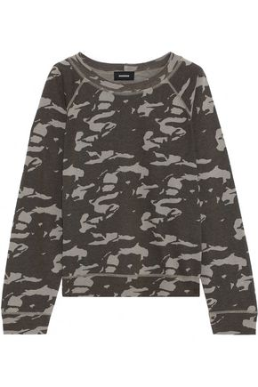MONROW Printed French-terry top