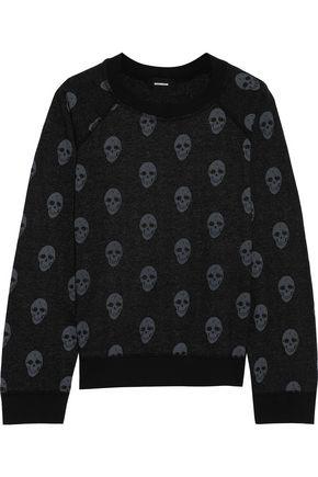 MONROW Printed fleece sweatshirt