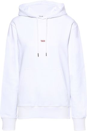 HELMUT LANG コーティング フレンチコットンパイル地 フード付きスウェットシャツ