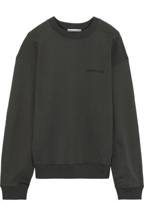 HELMUT LANG Printed French cotton-terry sweatshirt