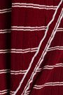 DEREK LAM 10 CROSBY Asymmetric striped ribbed cotton T-shirt
