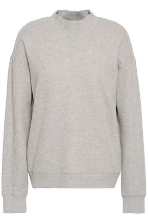 DEREK LAM 10 CROSBY Mélange French cotton-terry sweatshirt