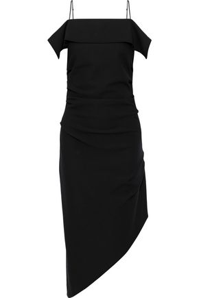HELMUT LANG Asymmetric draped cady dress