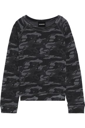 MONROW Printed French terry sweatshirt