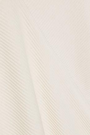 HELMUT LANG Asymmetric ribbed cotton top