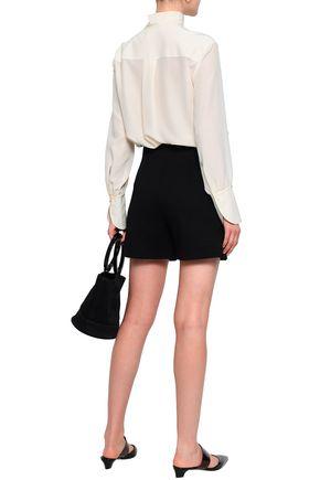 CHLOÉ Embellished silk crepe de chine blouse