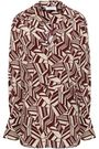 CHLOÉ Wrap-effect printed silk-crepe shirt