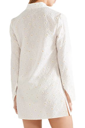 TORY BURCH Stephanie floral-print cotton and silk-blend tunic