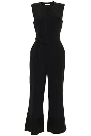 DEREK LAM 10 CROSBY Cropped cutout stretch-crepe jumpsuit