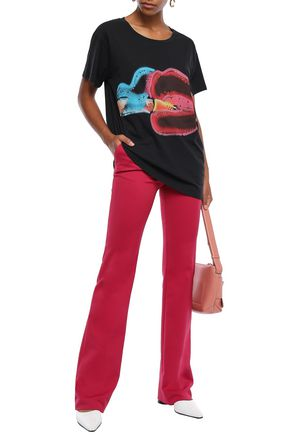 MARC JACOBS Crystal-embellished printed cotton-jersey T-shirt