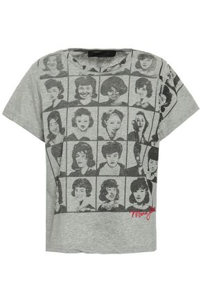 MARC JACOBS Embroidered printed cotton-jersey T-shirt