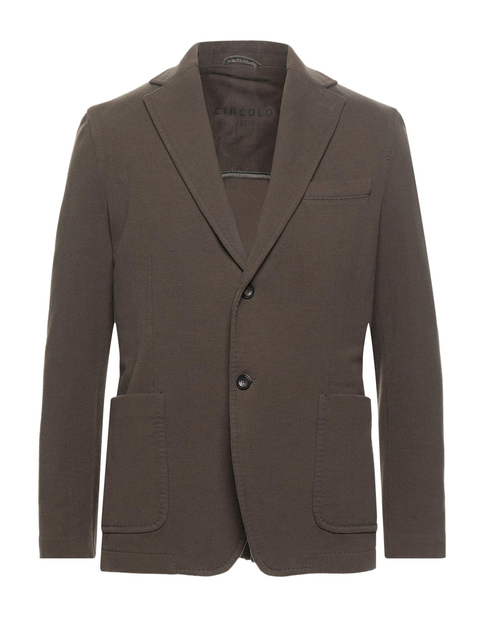 《セール開催中》CIRCOLO 1901 メンズ テーラードジャケット ミリタリーグリーン 50 コットン 95% / ポリウレタン 5%