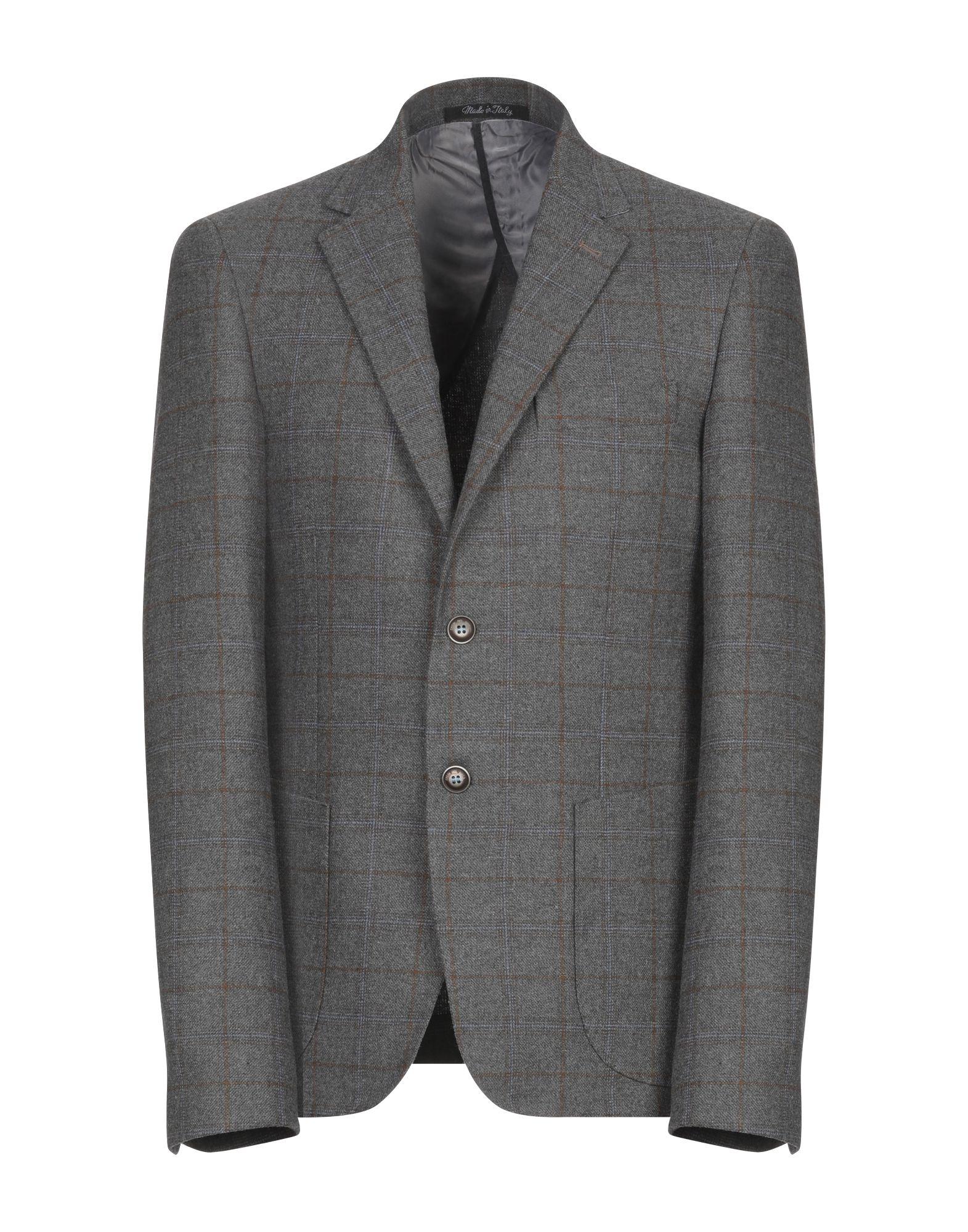 《期間限定セール開催中!》EREDI DEL DUCA メンズ テーラードジャケット グレー 46 ポリエステル 70% / ウール 15% / レーヨン 15%