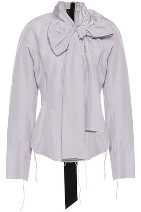 MARC JACOBS Bow-embellished taffeta blouse