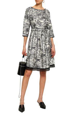 8bfcd4c4 MARC JACOBS Pleated organza-trimmed printed silk-twill dress