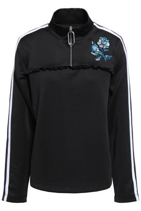 MARKUS LUPFER Zoey appliquéd tech-jersey top