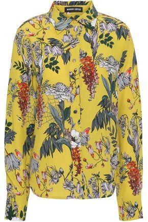 MARKUS LUPFER Penny floral-print silk crepe de chine shirt