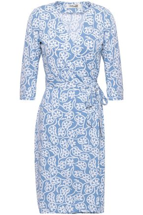 DIANE VON FURSTENBERG New Julian printed cotton and silk-blend wrap dress