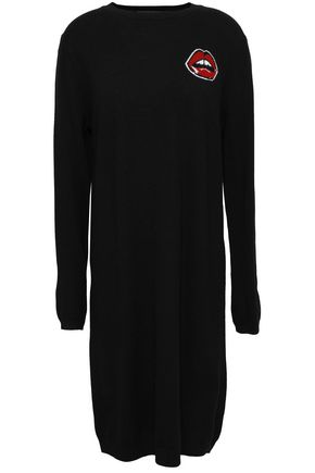 MARKUS LUPFER Intarsia merino wool dress