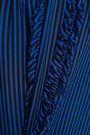 DIANE VON FURSTENBERG Ruffle-trimmed striped silk-georgette blouse