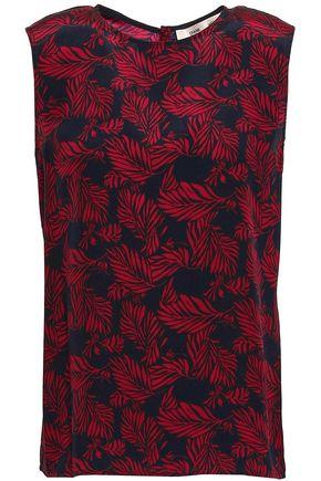 DIANE VON FURSTENBERG Printed silk crepe de chine top