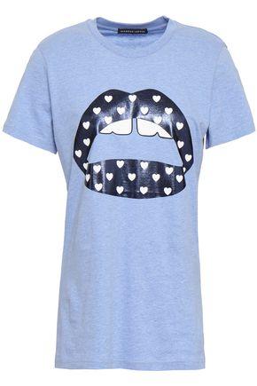 MARKUS LUPFER Kate metallic printed cotton-jersey T-shirt