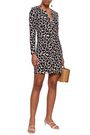 DIANE VON FURSTENBERG Printed silk and cotton-blend jersey mini dress