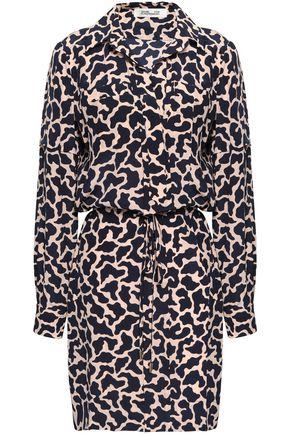 DIANE VON FURSTENBERG Printed silk mini shirt dress
