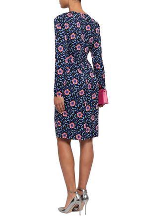 DIANE VON FURSTENBERG Floral-print jersey dress