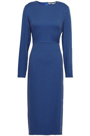 DIANE VON FURSTENBERG Striped stretch-jersey midi dress