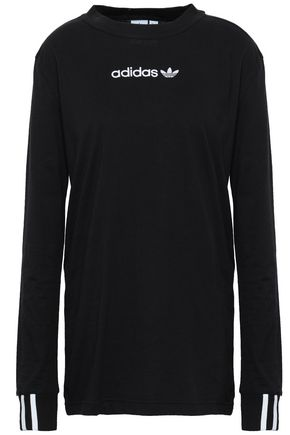 ADIDAS ORIGINALS Embroidered cotton-jersey top