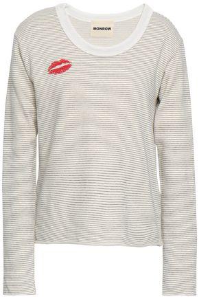 MONROW Printed French Supima cotton-blend terry sweatshirt