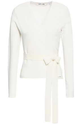 DIANE VON FURSTENBERG Stretch-knit wrap top