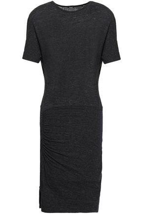 MONROW Cutout slub stretch-jersey mini dress