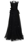 JASON WU Embellished flared plissé-tulle gown