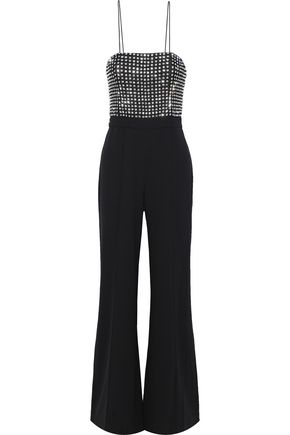 ALICE + OLIVIA Mannie crystal-embellished crepe jumpsuit