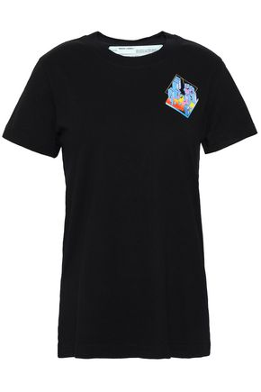 OFF-WHITE™ Printed cotton-jersey T-shirt
