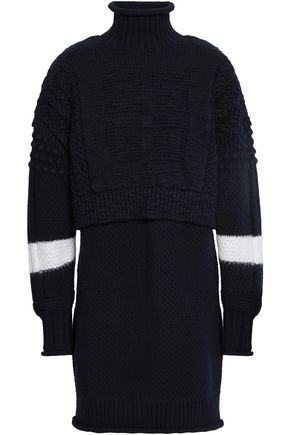 GIVENCHY Wool and cashmere-blend bouclé turtleneck mini dress