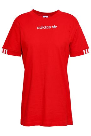 ADIDAS ORIGINALS | Adidas Originals Embroidered Cotton-Jersey T-Shirt | Goxip