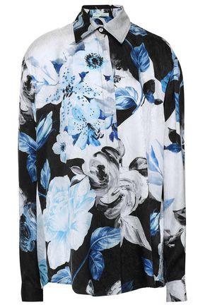 OFF-WHITE™ Printed silk-satin jacquard shirt