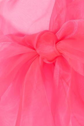 PRADA Pussy-bow silk-organza top